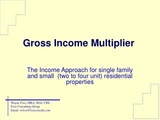 Gross Income Multiplier