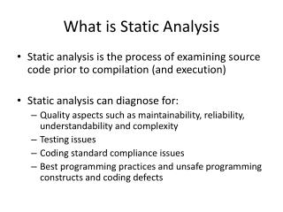 What is Static Analysis
