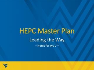 HEPC Master Plan