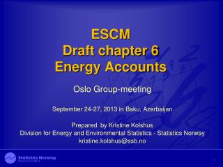 ESCM Draft chapter 6 Energy Accounts