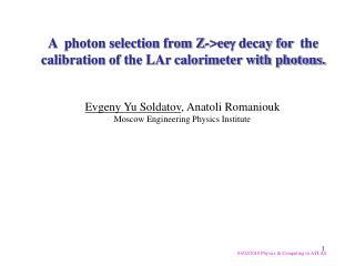 03/02/2010  Physics & Computing in ATLAS