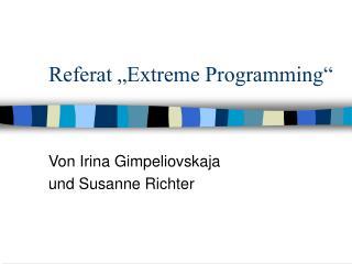 "Referat ""Extreme Programming"""