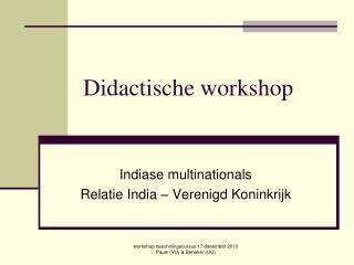 Didactische workshop