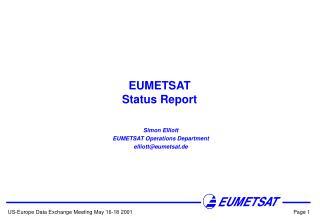EUMETSAT Status Report