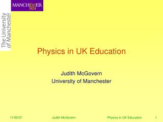 Physics in UK Education