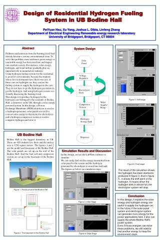 Design of Residential Hydrogen Fueling System in UB Bodine Hall