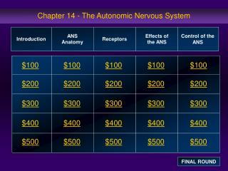 Chapter 14 - The Autonomic Nervous System