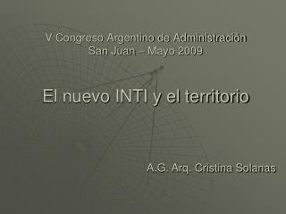 V Congreso Argentino de Administración San Juan – Mayo 2009