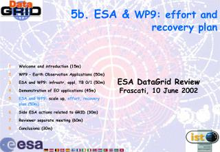 5b. ESA &  WP9 : effort and recovery plan