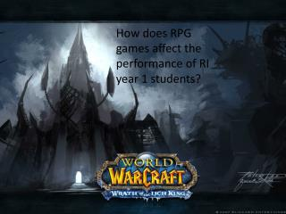 How does RPG games affect the performance of RI  year 1 students?