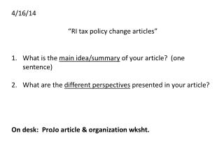 "4/16/14 ""RI tax policy change articles"""