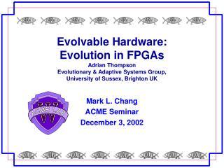 Mark L. Chang ACME Seminar December 3, 2002