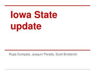Iowa State update