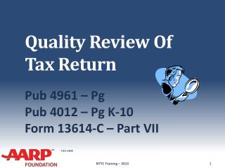 Quality Review Of Tax Return