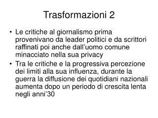 Trasformazioni 2