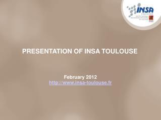 February 2012 insa-toulouse.fr