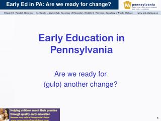 Early Education in Pennsylvania