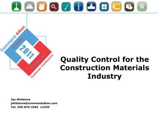 Quality Control for the Construction Materials Industry