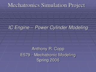 Mechatronics Simulation Project