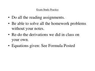 Exam Study Practice