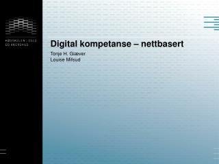 Digital kompetanse – nettbasert