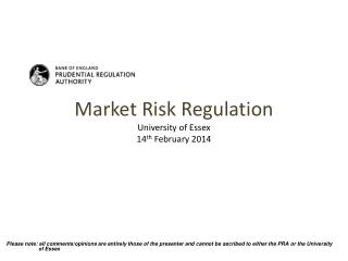 Market Risk  Regulation