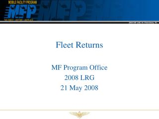 Fleet Returns