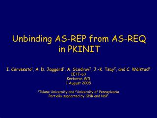 Unbinding AS-REP from AS-REQ in PKINIT