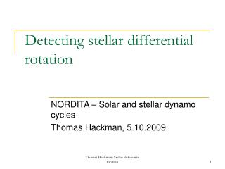 Detecting stellar differential rotation