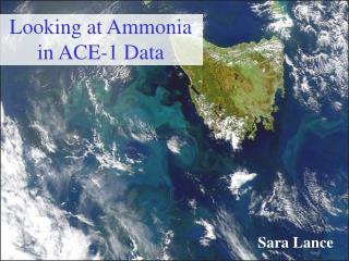 Looking at Ammonia  in ACE-1 Data