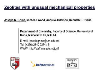 Zeolites with unusual mechanical properties