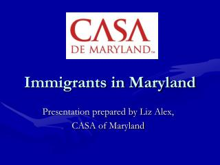 Immigrants in Maryland