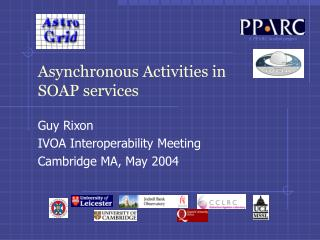 Asynchronous Activities in SOAP services