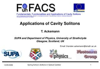 Applications of Cavity Solitons