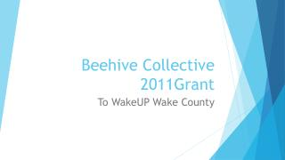 Beehive Collective  2011Grant