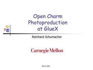 Open Charm Photoproduction  at GlueX