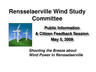 Rensselaerville Wind Study Committee
