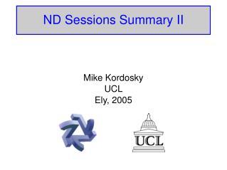 ND Sessions Summary II