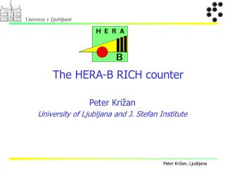 The  HERA-B RICH  counter