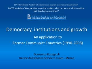 Democracy, institutions and growth