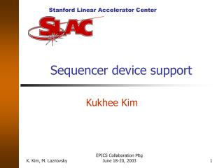Sequencer device support