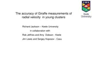 The accuracy of Giraffe measurements of radial velocity  in young clusters