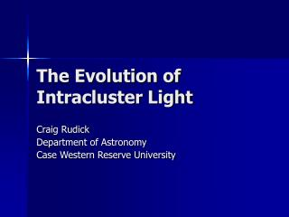 The Evolution of Intracluster Light