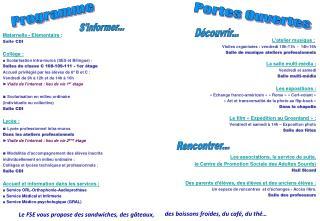 Maternelle -  Elémentaire : Salle CDI Collège: