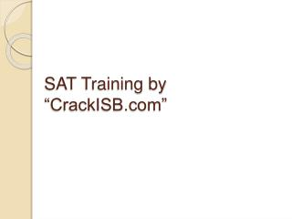 SAT Training in Hyderabad | Sat Training institutes in Hyder
