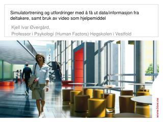 Kjell Ivar Øvergård,  Professor i Psykologi (Human Factors) Høgskolen i Vestfold