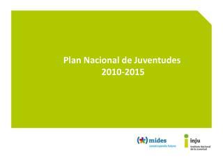 Plan Nacional de Juventudes  2010-2015