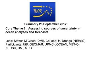 Summary 26 September 2012
