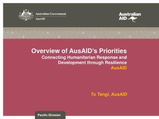 Tu Tangi,  AusAID