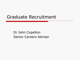 Graduate Recruitment